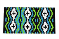 Western Water Blue Barrel Racing Show Rodeo Saddle Pad : Water Blue