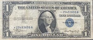 USA 1 Dollar 1935 A Silver Certificate One Banknote STAR NOTE Schein #21993
