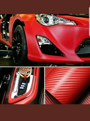 127*30cm 3D Carbon Fiber Vinyl Car Auto Wrap Sheet Roll Film Sticker Decals New