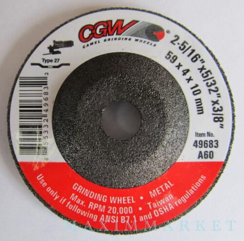 "2-5//16/"" X 5//32/"" X 3//8/"" Mini Depressed Center Grinding Wheel Disc for Die Grinder"