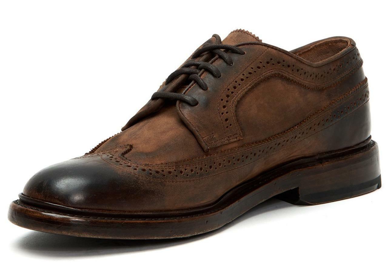 Nuevo En Caja -  298 FRYE Jones rojowood punta del ala Oxford De Cuero Talla 8