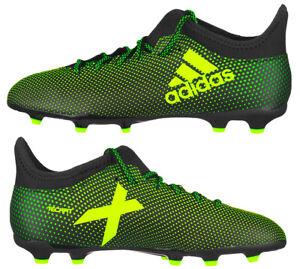 Adidas Junior Ace X 17.3 FG Football Boots Kids Boys Girls Firm Ground Lime  New | eBay