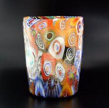 Bicchiere Goto Veneziano Murrina Foglia Oro Vetro di Murano made in italy