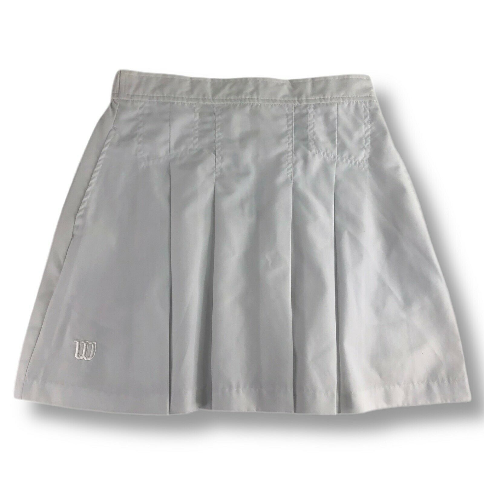 Vintage Wilson White Pleated Tennis Skirt Women's Size 8 Polyester NWOT Unused