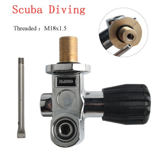 New M18x1.5 Thread Scuba Diving 4500Psi K Valve PCP Paintball Cylinder Compress