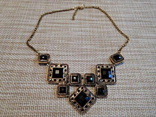 sehenswert u.edel // gold u.schwarz o Halskette // Collier 03069-03070 grün