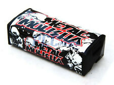 "1 1/8"" FAT SQUARE HANDLEBAR BAR PAD METAL MULISHA ATV PIT DIRT BIKE M HP04"