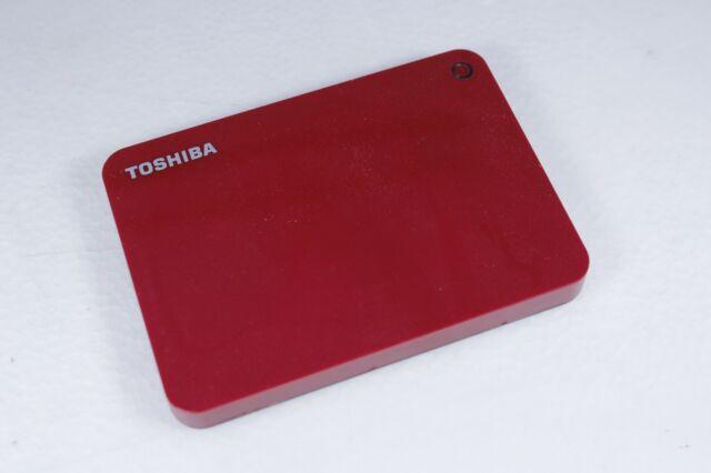 Genuine Toshiba Canvio Connect II 2TB Portable Hard Drive Red HDTC920AR3AA