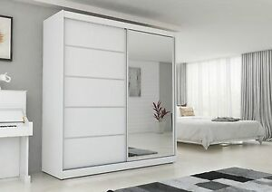 image is loading modern wardrobe 200 cm with mirror led light - Modern Wardrobe