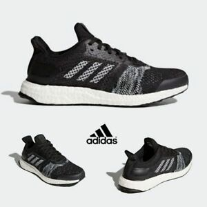 the latest 130a4 6bf9b Adidas Ultra Boost ST Shoes Running Sneakers Trainers Black ...
