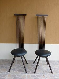 Image Is Loading 2 BENCH MADE MODERNIST JEFFREY GREENE EXAGGERATED BACK
