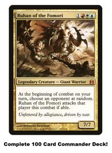 MTG-Commander-EDH-Deck-Ruhan-of-the-Fomori-100-Cards-Custom-Deck-Jeskai