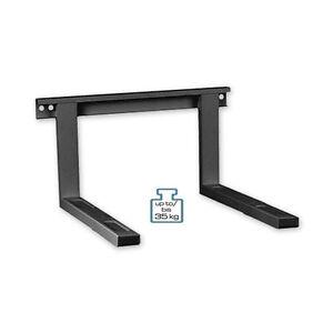 mikrowelle halterung bis 35 kg wandhalterung mikrowelle halter schwarz ebay. Black Bedroom Furniture Sets. Home Design Ideas