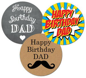 Image Is Loading 039 Happy Birthday Dad Stickers Choice Of