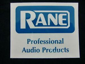 Logique Rane Pro Audio Produit Dj Mixer Plateau Tournant Decal Autocollant Case Rack Autocollant-afficher Le Titre D'origine Riche Et Magnifique