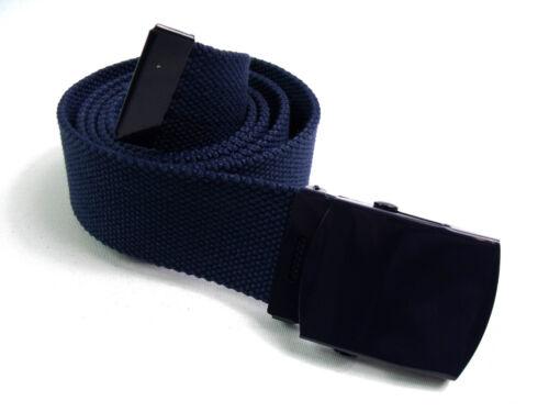 Unisex Retrò di Qualità Forzuto Cotone Tela Cintura Adatto fino Size55.9cm 132cm