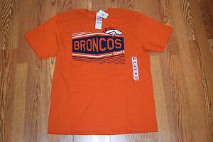 NWT Mens NFL Team Apparel Orange Navy DENVER BRONCOS Tee Shirt Size ... 30b01d046