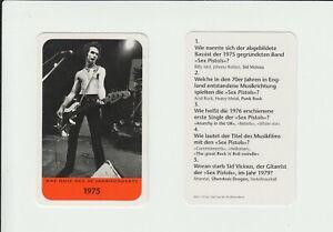 Punk : Sex Pistols : Sid Vicious : attractive German collector card
