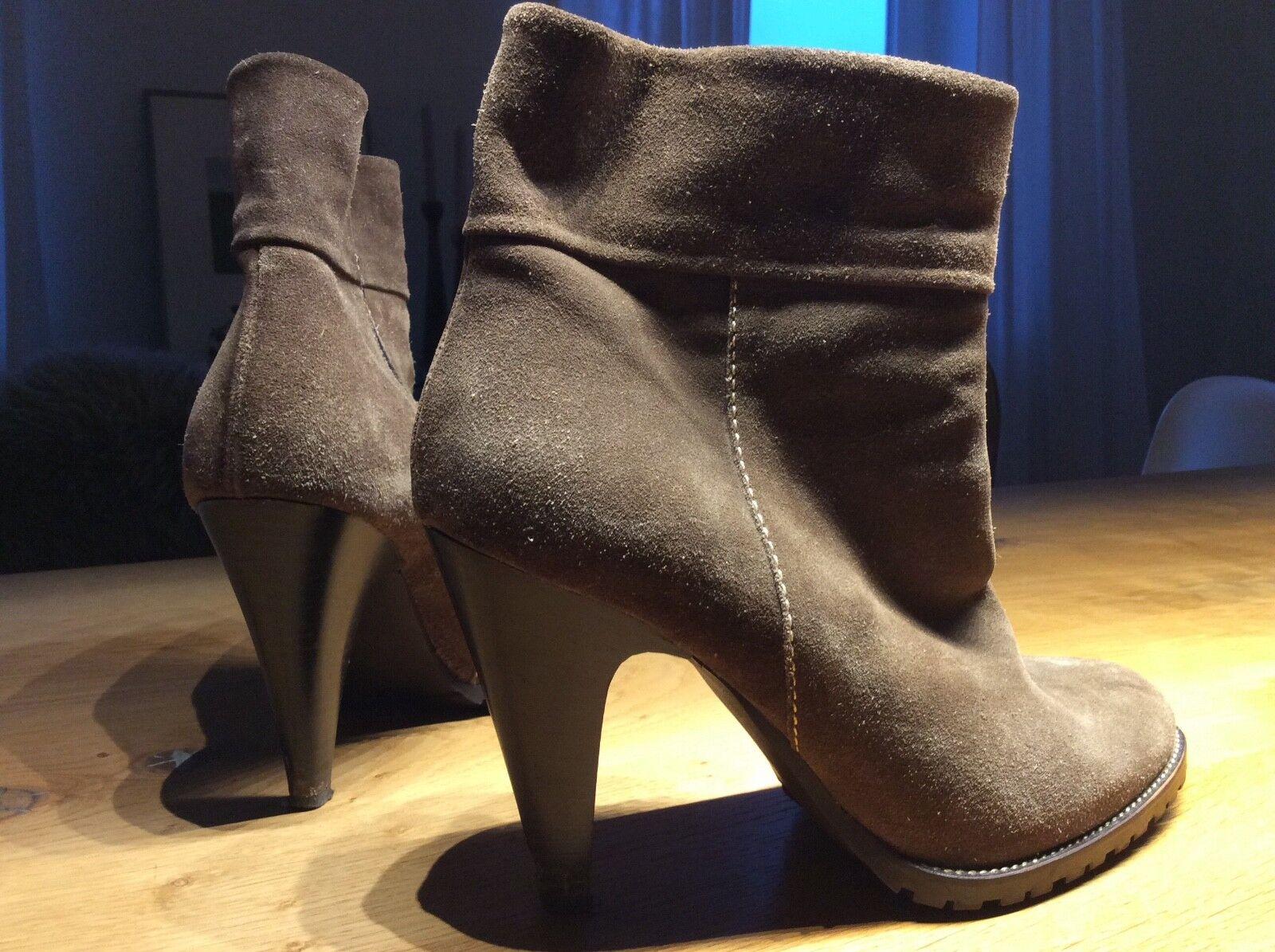 COCCINELLE Gr. 40 Design Beige grau Damen Schuhe Stiefel Leder Schuhese