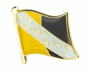 NORFOLK : County Flag Enamel Lapel Pin Badge (UK SELLER - FREE UK POST)