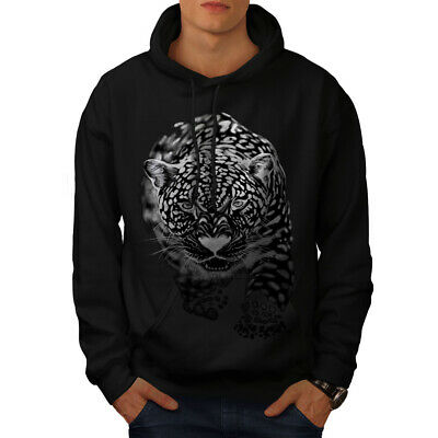 Logisch Wellcoda Cougar Killer Mens Hoodie, Cat Casual Hooded Sweatshirt