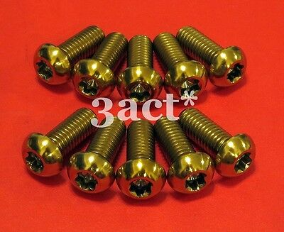 Ducati Multistrada 1200 10pcs M8 x 20mm T40 Titanium//Ti Disc Brake Rotor Bolt