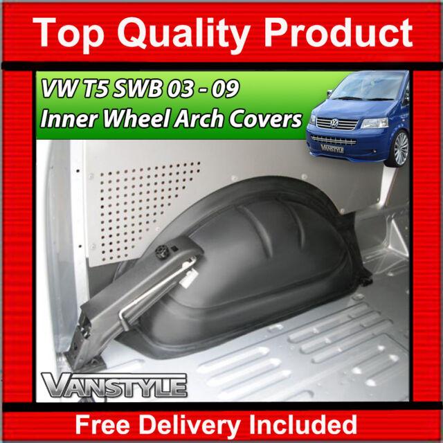 VW T5 TRANSPORTER & CARAVELLE SWB 2003-2009 ABS INNER INTERNAL WHEEL ARCH COVERS
