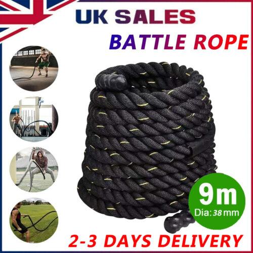 Battle Power Rope 38mm Undulation 9M Battling Sport Gym Exercise Fitness Train