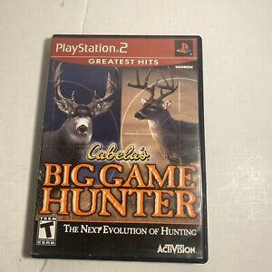 Cabela-039-s-Big-Game-Hunter-Playstation-2-PS2-Complete-CIB-Video-Game-Free-Ship