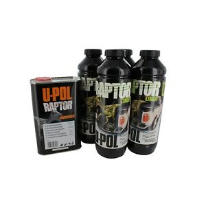 U-Pol Products 0820 RAPTOR Black Truck Bed Liner Kit - 4 Liter Upol