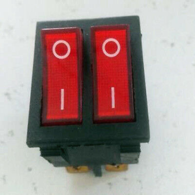 2pcs Power Dual Two Gangs Red Indicator Light Rocker Switch 120V 240V 20A,On-Off