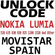 Movistar Spain Nokia Lumia All Model Factory Unlock Code Service