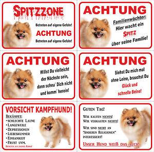 Details Zu Schild Achtung Spitz Zwergspitz Pomeranian Versch Motive 15x20 40x60cm Hund