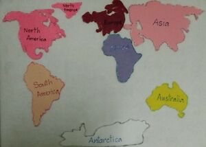 Felt board story teacher resource 7 continents world map habitat gumiabroncs Choice Image