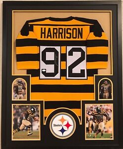low priced c2bb7 0f6da Details about FRAMED JAMES HARRISON AUTOGRAPHED SIGNED PITTSBURGH STEELERS  JERSEY JSA COA