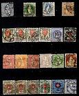 SUISSE timbres ancien 1882/1910 HELVETIA et emblémes G63