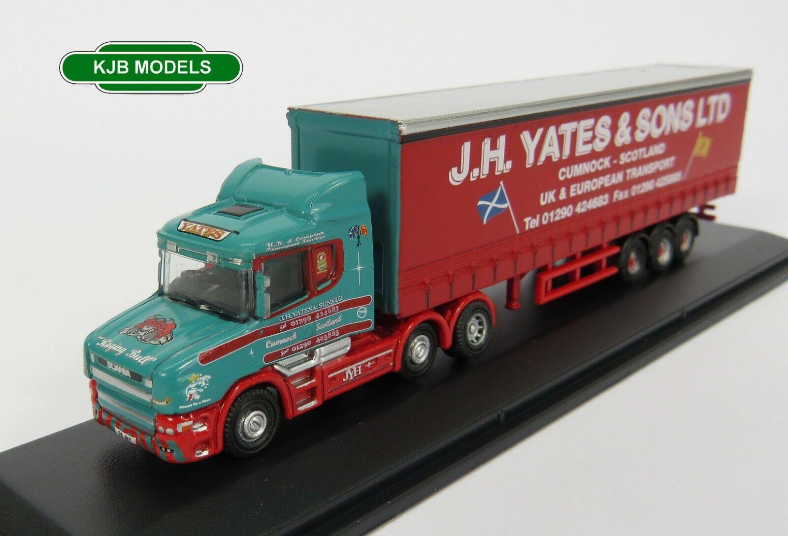 NTCAB008 Oxford Diecast N Gauge Scania T Cab Curtainside J H Yates ...