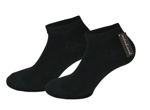 24 paia füsslinge da donna Sneakers Sneaker Breve Calze Nero//Bianco 95/% COTONE