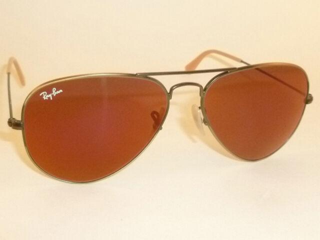 1b3bcd267e4a Original Ray Ban RB 3025 167/2k Silver Frame Red Lens Aviator 55mm  Sunglasses
