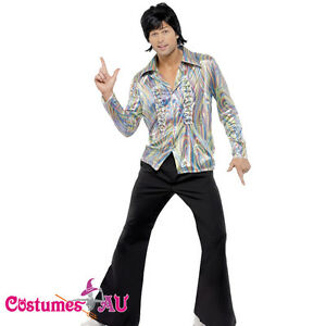 Image is loading Mens-1960s-70s-Hippie-Costume-Disco-Dancer-Man-  sc 1 st  eBay & Mens 1960s 70s Hippie Costume Disco Dancer Man Adult 60s Hippy Retro ...
