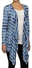 NEW Michael Kors M Medium Open Cardigan cascading Drape Knit Striped Lagenlook