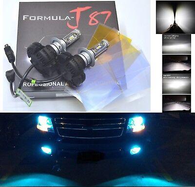 LED Kit X3 50W HS1 8000K Icy Blue Two Bulbs Head Light Replacement ATV UTV Lamp