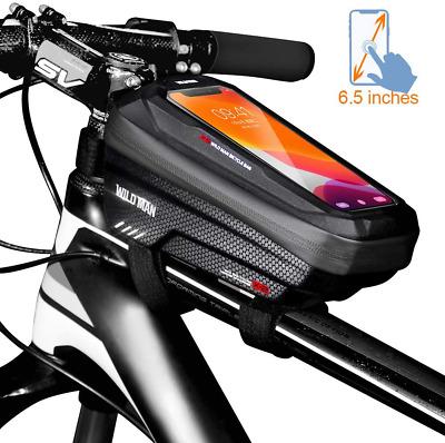 Wasserdichte Harte Fahrradtasche Rahmentasche Handytasche Oberrohrtasche MTB Bag