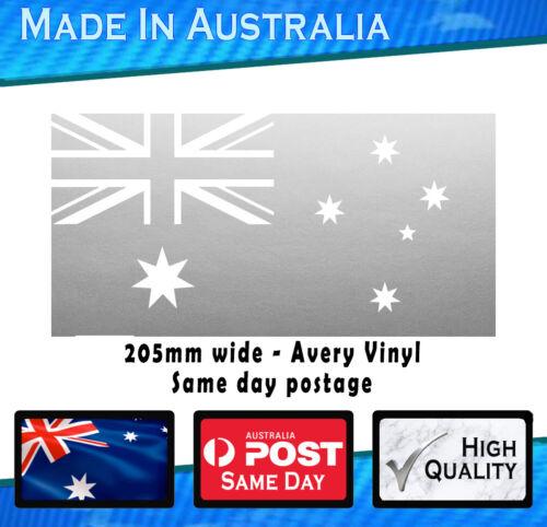 Australian Flag Decal Sticker Silver 205mm Avery Vinyl Aussie Oz Patriot Pride