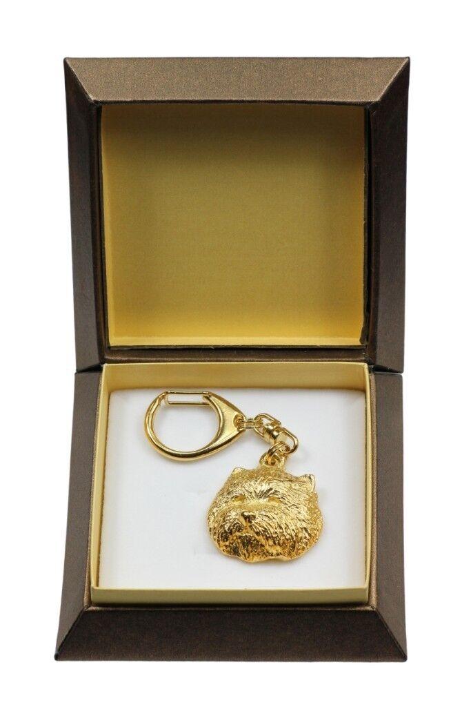 prezzi bassi di tutti i giorni Westie type 2 - oro covered keyring with dog, box, box, box, high quality, Art Dog  per il tuo stile di gioco ai prezzi più bassi