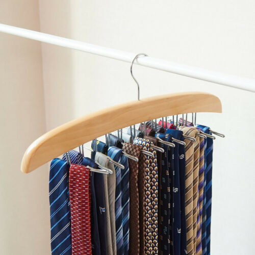 Tie Hanger Rack Organizer Multi-function Belt Neckties Holder with Closet Hook