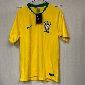 Nike 2018 World Cup Brasil Brazil Men s Home Jersey 893856-749 SZ M ... 0f967b6aefeeb