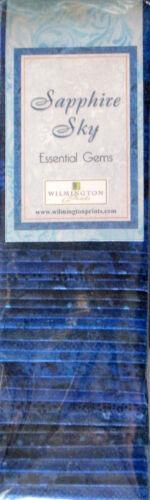 "Jelly Roll Batik SAPPHIRE SKY Blue Cotton Fabric Wilmington 24 Strips 2.5/""X44/"""