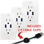 5.0A High Speed Dual USB Charger Outlet 3 Pack 15A TR Electrical Receptacle