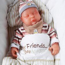 IVITA 18.5'' Skin Color Eyes Closed 3.7KG Silicone Reborn Baby Girl Newborn Baby